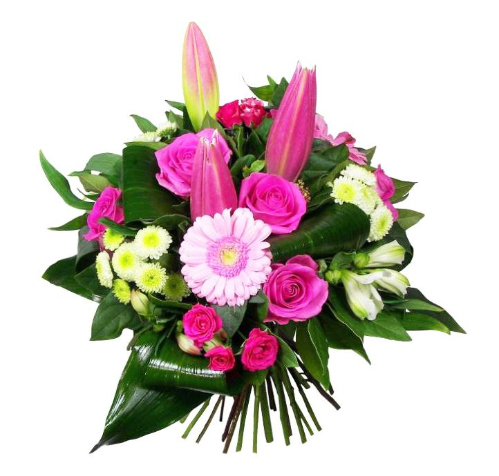 Flowers bouquets spring colors for Bouquet de fleurs 70 ans